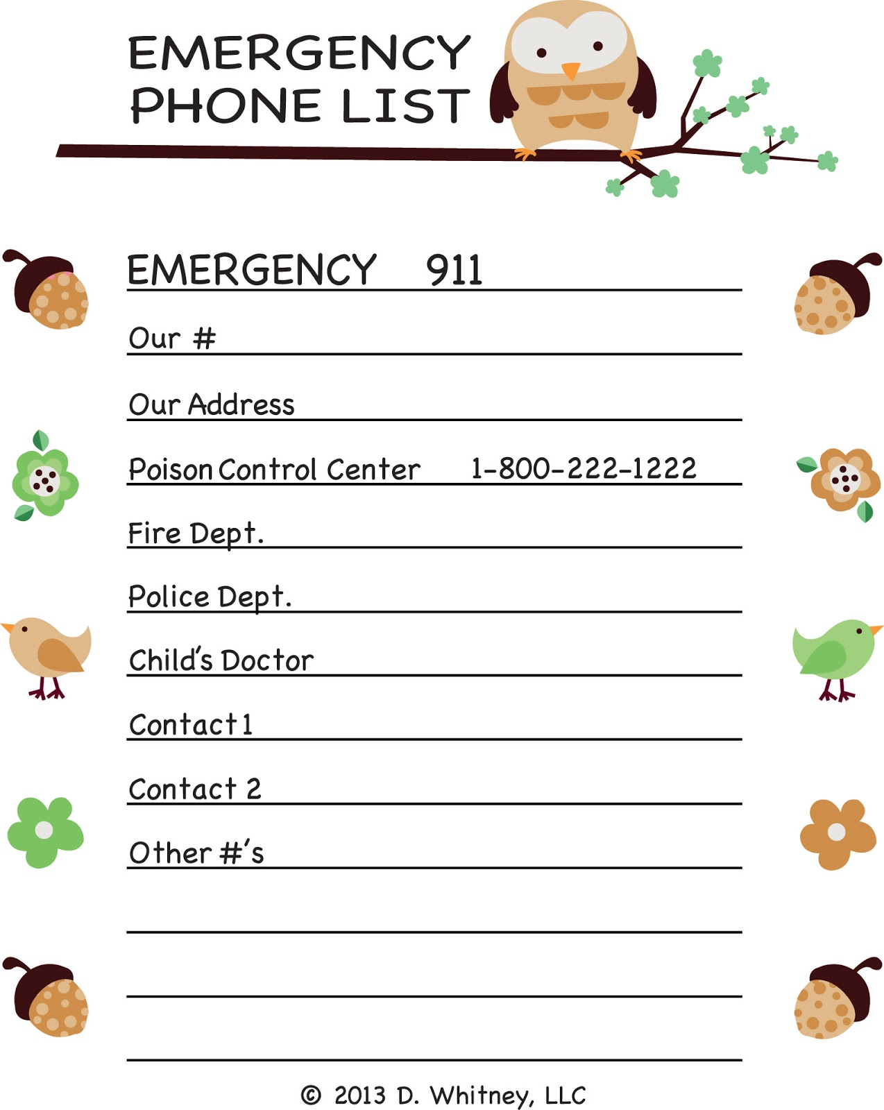 Phone Number List Template invoice template receipt template ...
