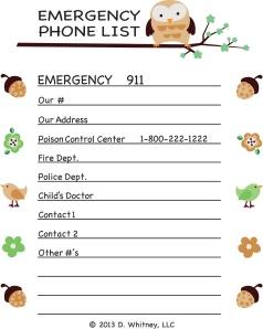 Final Brown Phone List